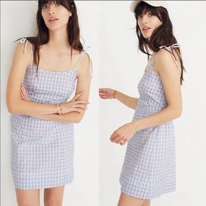 NWT Madewell Gingham Tie Strap Sun Dress Size 2